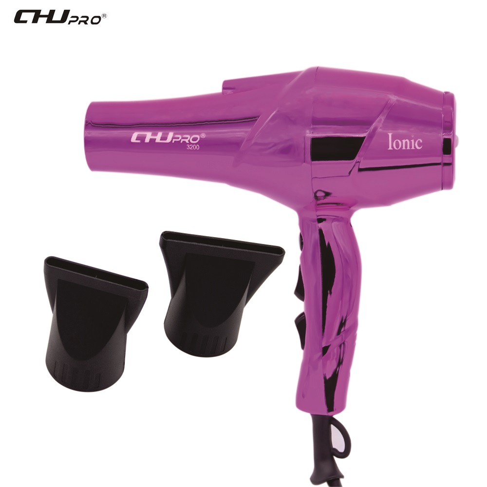 CHJ Heat Setting Infrared Hair Dryer Ionic Hair Blow Dryer Electroplated Gold Shell Hair Blow Dryer High Performance Hair Dryer chj infrared hair dryer healthy electric hair dryer brush ionic hair blower multi color hair styler dryer comb