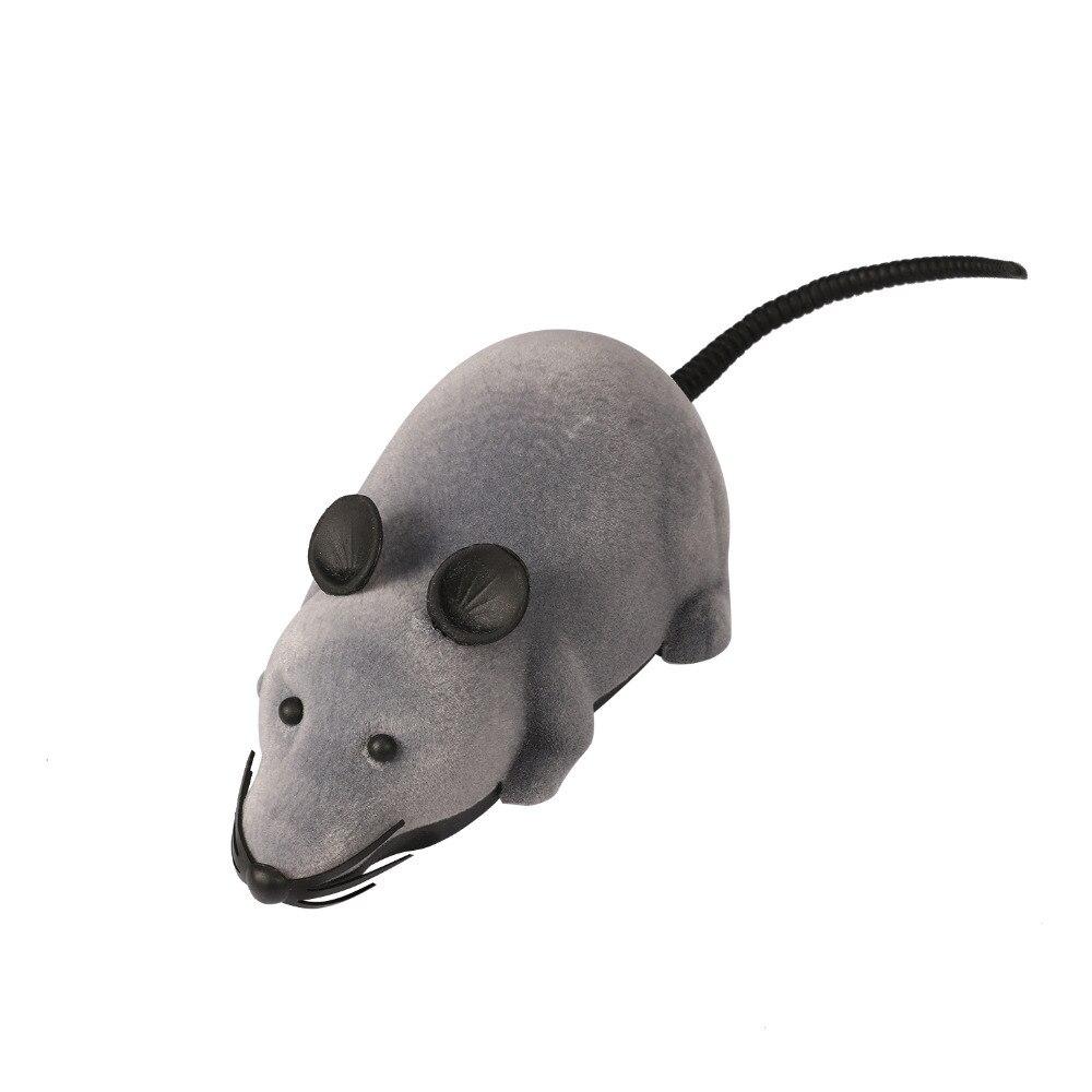 RC Беспроводной Simulatio Дистанционное управление Rat Мышь игрушка для кошки котенок играет игрушки детям Игрушечные лошадки Новинка RC электрический стекаются Мышь игрушка