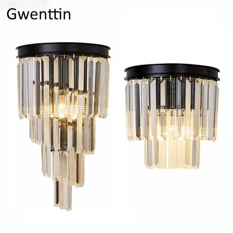 Nordic Crystal Wall Lamps Luxury Loft Wall Lights for Home Decor Sconces Bedroom Lamps Living Room LED Light Fixtures LuminariasNordic Crystal Wall Lamps Luxury Loft Wall Lights for Home Decor Sconces Bedroom Lamps Living Room LED Light Fixtures Luminarias
