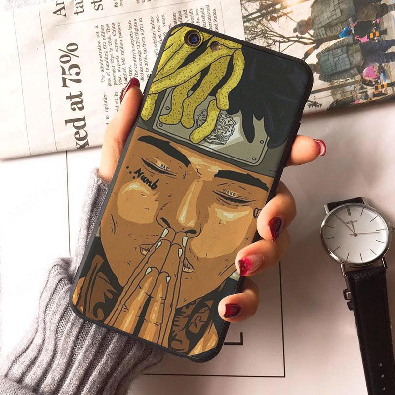 r i p xxxtentacio case for iphone 7 8 plus 6 s 6s marvel cartoon soft silicon tpu back cover for iphone x 5s 5 s se cases in half wrapped case from