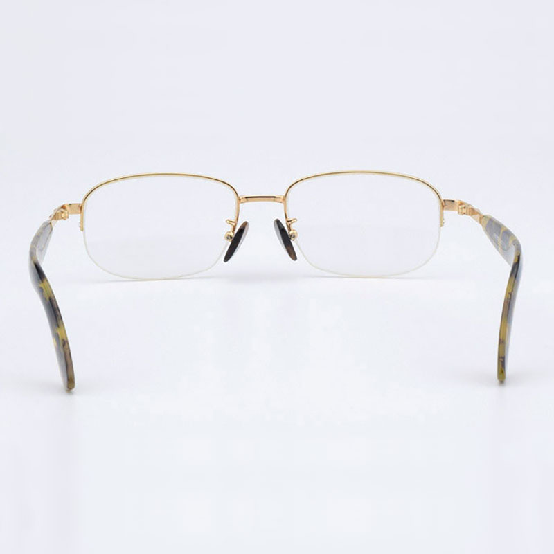 Image 3 - Half Rimless Optical Glasses Frame Acetate Temple Alloy Front Rim Frame Glasses Frame Prescription Semi Rimless Spectacles-in Men's Eyewear Frames from Apparel Accessories