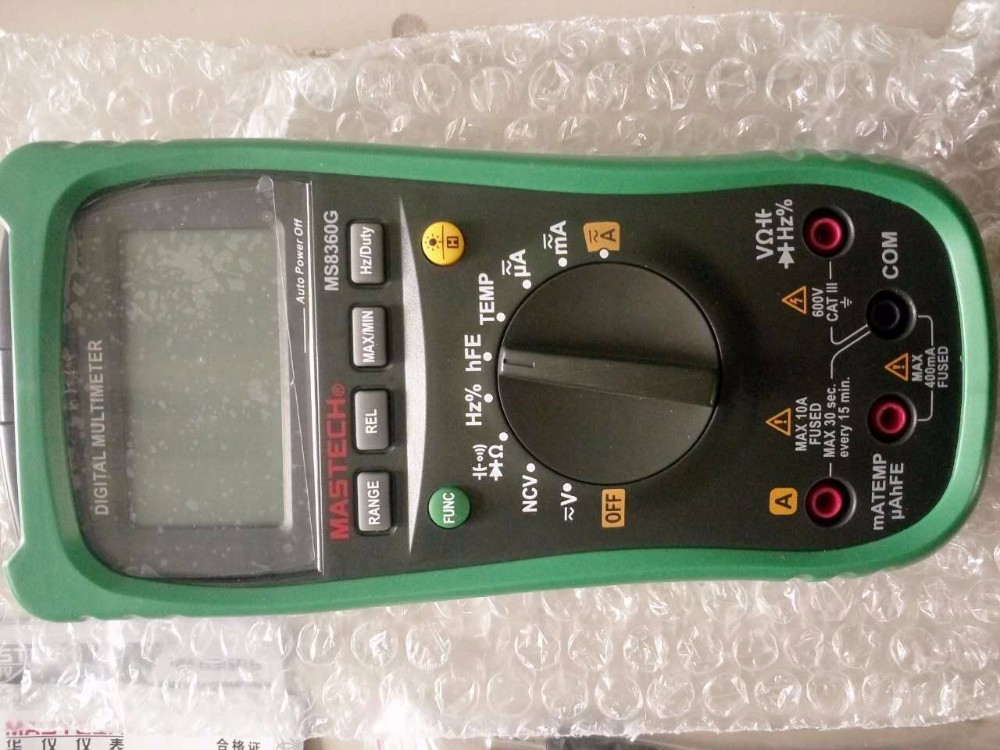 ФОТО Newest MASTECH MS8360G Auto Range Digital Multimeter ohm voltage current Capacitance Frequency Temperature Meter upgrade MS8260G