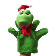 Stuffed plush Toy green snake hand puppet children baby Puppet toys Christmas gift