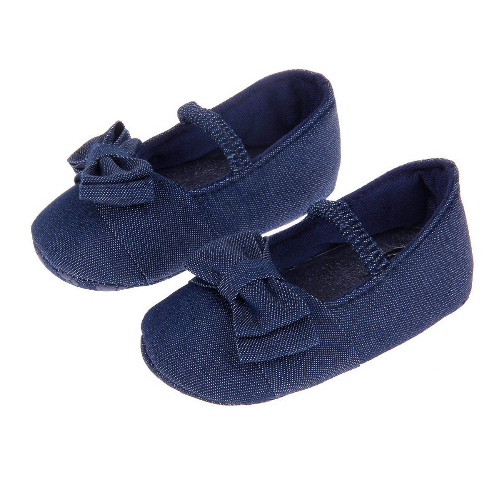 Baby Shoes First Walker Cotton Shoes Bowknot Comfortable Bowknot Princess Shoes