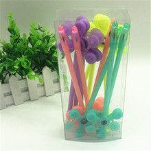 12pcs 1box Hand fidget flower spinner kawaii pen toy 22 5cm kids sign pen spincube space