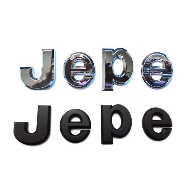 ABS Badge For 3D J E P E Letters Emblems Emblema Logos Stickers Badges