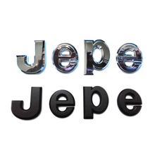 ABS Huy Hiệu 3D J E P E Chữ Cái Biểu Tượng Emblema Biểu Trưng Dán Phù Hiệu