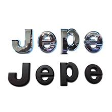 ABS rozeti 3D J E k E n E n E n E n E n E n E n E n E harfler amblemleri Emblema logolar etiketler rozetleri