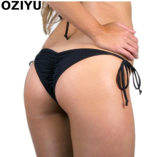 539c95ff3823 Cheeky Bikini brasileño con espalda fruncida/Scrunch butt bikini Micro  bottoms Tanga-forrado-fruncido-alto calidad traje de baño