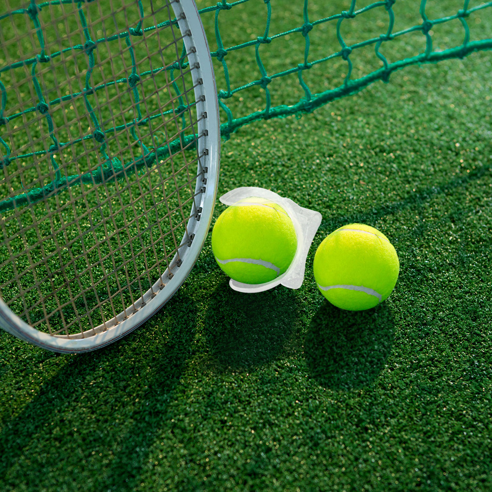 1Pc Tennis Ball Clip Professional Tennis Ball Holder Waist Clip Transparent Holds Tennis Ball Accessories Training Equipment in Tennis Accessories from Sports Entertainment