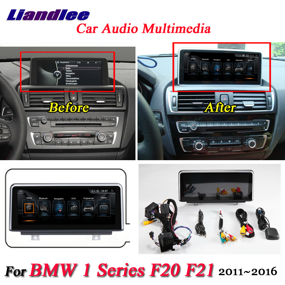 Liandlee For BMW 1 Series F20 F21 2011~2016 Android Original Car System Radio GPS Map Navi Navigation Screen Multimedia NO DVD kanor 8 8 2g 32g android 7 1 car radio multimedia player for bmw 1 series f20 f21 2010 2016 2 series f23 2013 2016 nbt system
