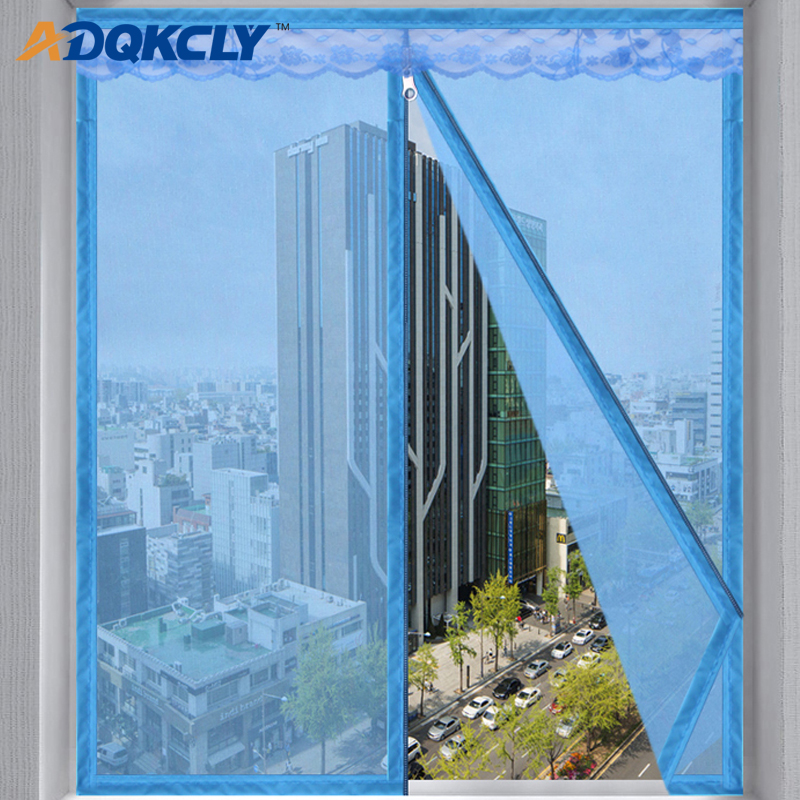 ADQKCLY Summer Anti-mosquito Window Screen Polyester Fiber Encryption Anti-dust Window Mesh With Zipper Design Easy Intallation
