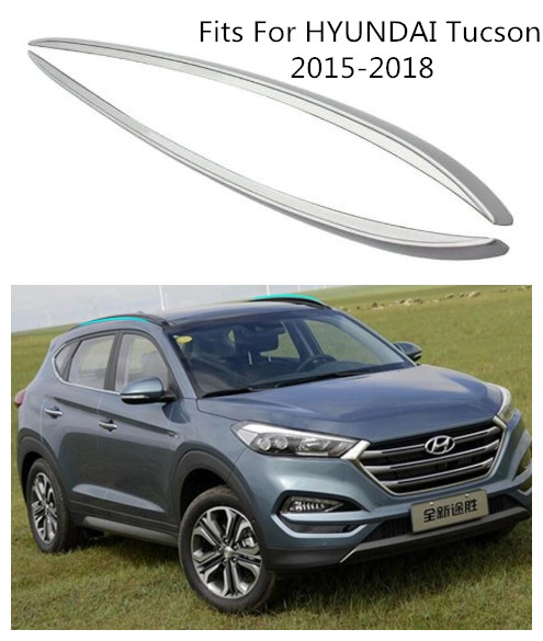 High Quality Aluminum Alloy Car Roof Racks Luggage Rack Fits For HYUNDAI Tucson 2015 2016 2017 2018 BY EMS image