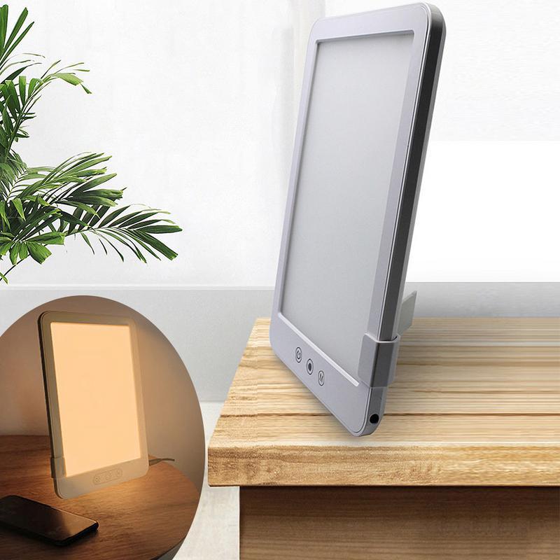 18W EU/US Plug LED SAD Phototherapy Lamp Photo Face Bionic Sun Light LED Night Light Three color Stepless Dimming Table Lamp J2