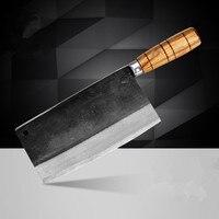 Бесплатная доставка Дэн Ножи ручной работы профессиональный шеф-повар Ножи Кухня нарезать мясо овощей Многофункциональные ножи кованые но...