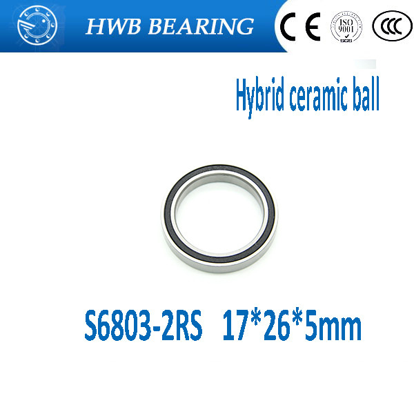 Free Shipping S6804-2RS S6804 2RS 20x32 x7 mm Stainless Steel  Hybrid Ceramic deep groove ball bearing 20*32*7mm 2pcs lot s6806 2rs s6806 2rs s6806 6806 2rs 6806rs 61806 stainless steel 440c hybrid ceramic deep groove ball bearing 30x42x7mm
