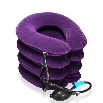 Aufblasbare Hals Traktion Kragen 4 Schichten Zervikale Traktion Gerät Luft Hals Schulter Unterstützt Relief Schmerzen Kissen