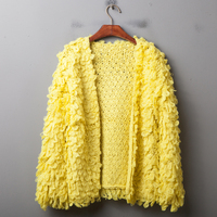 Korean Mini sweater, knitted candy, pure coloured long sleeved cardigan, sweater