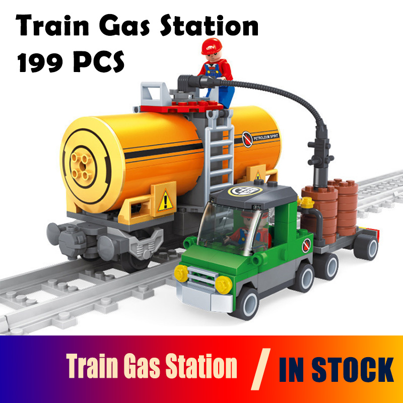 25414 Model building kits compatible with lego city train 3D blocks Educational model & building toys hobbies for children model building kits compatible with lego city loading and unloading station train blocks educational model building toys hobbies