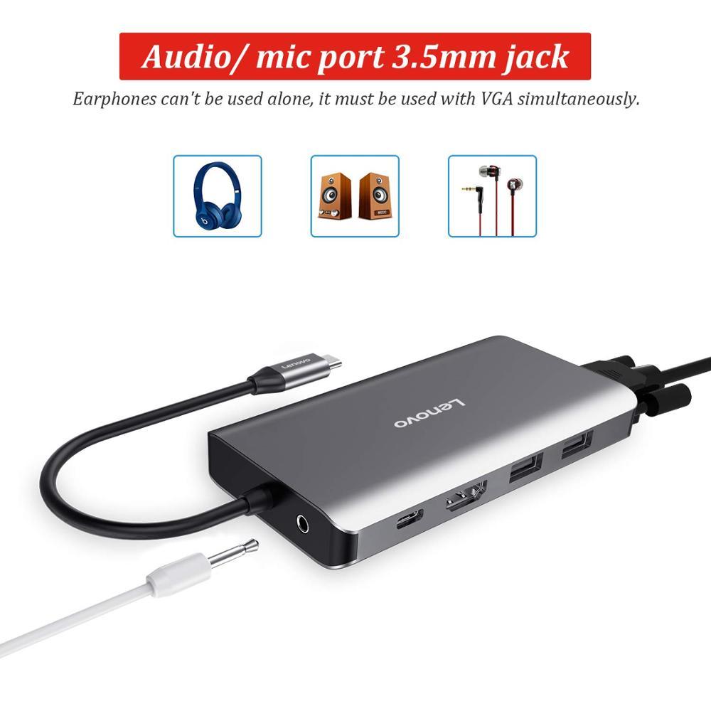 11 En 1 USB C a HDMI 4 K RJ45 LAN Ethernet USB 3,0 para MacBook Pro Xiaomi Asus ordenador portátil Lenovo Huawei Mate 10 Tipo C - 3