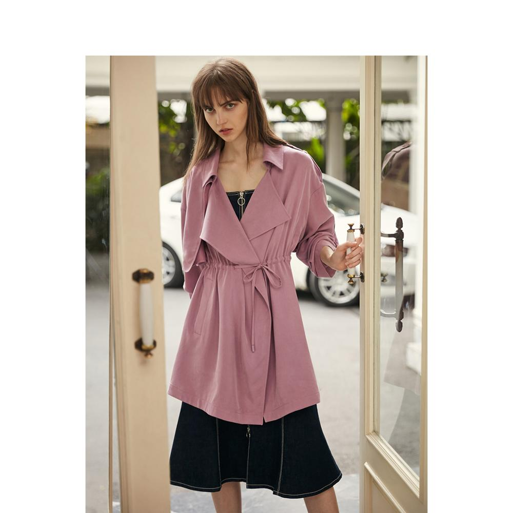 ONLY 2019 Women's Loose Fit Casual Wind Coat |119136560