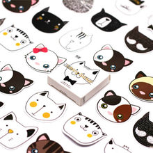 45 stks/pak Kawaii Leuke kat Patroon Decoracion Tijdschrift Stickers Scrapbooking Briefpapier Student Kantoorbenodigdheden(China)