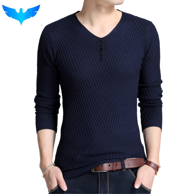 Sweater Pullover Men 2018 Male Brand Casual Slim Sweaters Men Fashion Solid Color High Quality Hedging V-Neck MenS Sweater 4XL ...