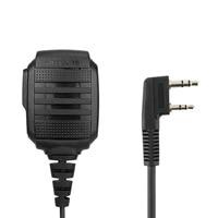 uv 5r uv Talkie Walkie מיקרופון כתף עמיד למים מיקרופון IP54 אוזניות עבור BAOFEGN UV-5R 888S UV82 UV8D Kenwood מחט כפול (3)