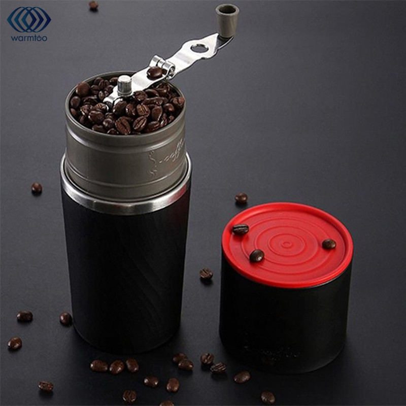 Portable Camping Travel Coffee Grinding Machine 230ml 4 In 1 Brewed Coffee Bean Grinder Hand Manual Handmade Bean Mill Mug термокружка emsa travel mug 360 мл 513351