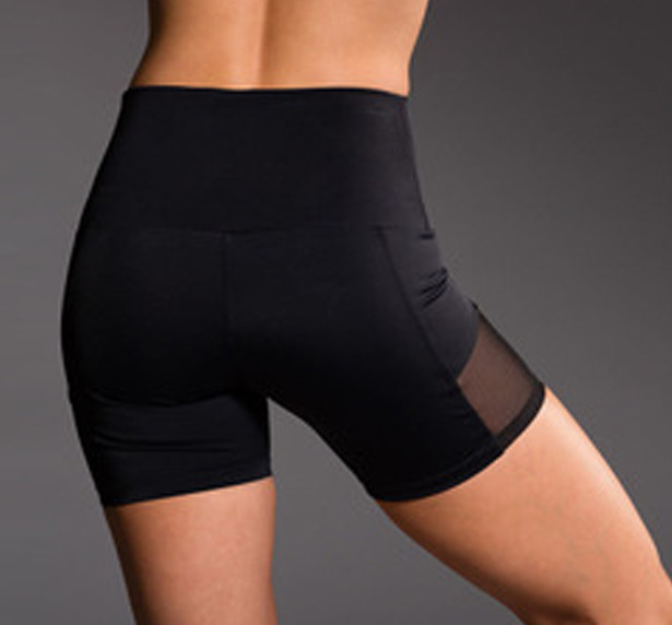 High Waist  Mesh Shorts  With Side Pocket
