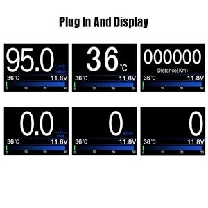 Image 5 - A203 Scanner de voiture, outil de Diagnostic de voiture, ordinateur de bord, liquide, jauge de température, tachymètre, compteur de vitesse, HUD ODB II, nouveau