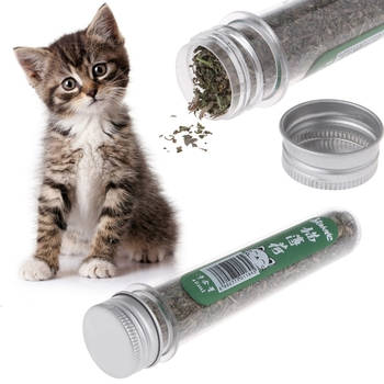 40ml Natural Catnip Cat Kitten Menthol Flavor Pet For Interactive Teeth Vitamin