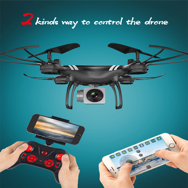 Mini RC Drone With Camera HD 4-Axis Aircraft Wide-angle 2MP 5MP WiFi Camera Real Time Video RC Quadcopter Drone KY101 For 6