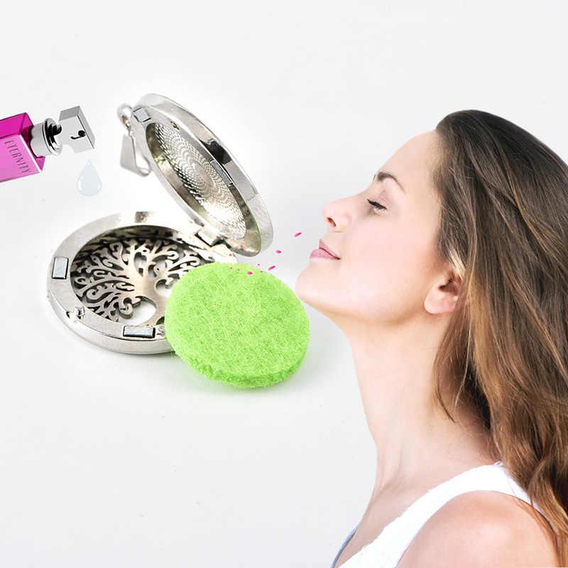 El nuevo ambientador de difusor de Perfume de madera desmontable del coche difusor de aceite esencial aromaterapia Árbol de la vida amor coche clip medallón