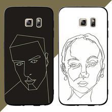 Abstract painting Phone Cases Cover For Samsung Galaxy S10 e S9 S8 S7 S6 Edge Plus Soft case