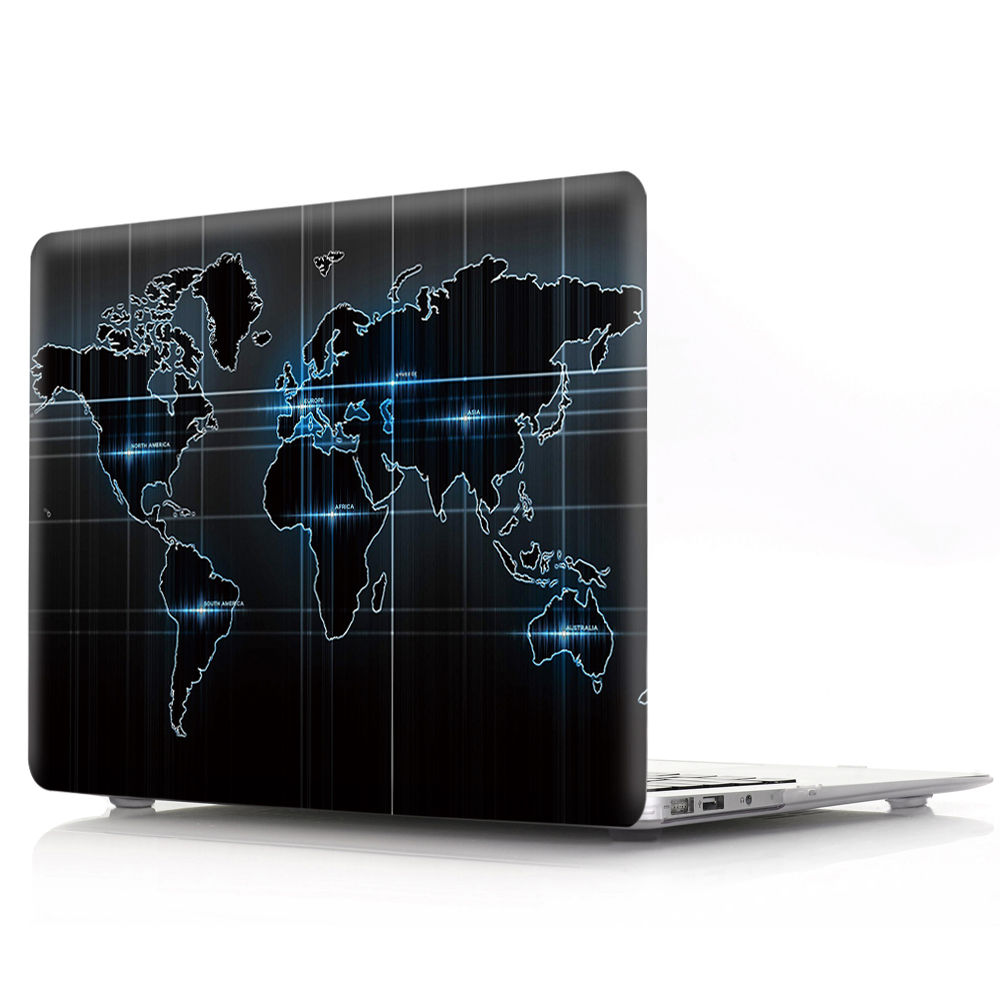 New For Macbook Air Pro Retina 11 12 13 15 Cover Hard PVC Color World Map A1466 Hard PC Coque for Macbook Pro 13 A1989 2018 Case (6)