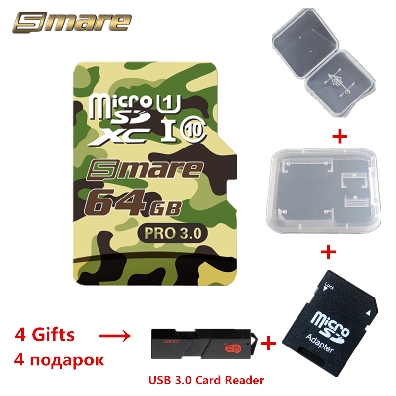 Smare Micro SD Card USB 3 0 PRO 32GB 64GB 128GB Class10 UHS 1 Memory Card