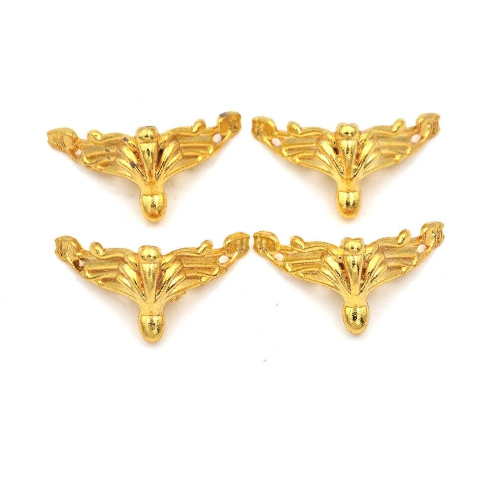4PCS Antique Brass Jewelry Metal Book Co