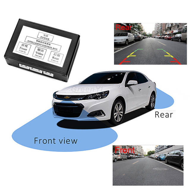GreenYi Auto Parking Video signal conversion   Front View and Rear View Car  Camera Video Control System With Manual Switch