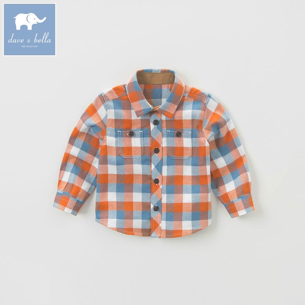 DB5370 dave bella jesień dziecko chłopcy przystojny koszula  P0rJ8