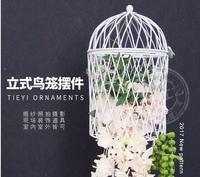 Новый стиль китайского железного художественного украшения Вертикальная клетка для птиц рамка с цветами свадебные украшения окна приборы