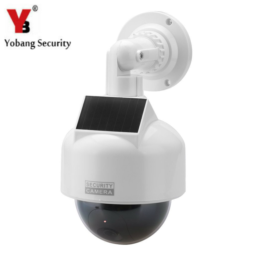 YobangSecurity CCTV Dome Dummy IP Camera Outdoor Indoor Home Security Fake Camera Solar Energy Powered with Flashing LED LightYobangSecurity CCTV Dome Dummy IP Camera Outdoor Indoor Home Security Fake Camera Solar Energy Powered with Flashing LED Light