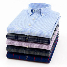 Winter Autumn Men Long Sleeve Plaid Printed Casual Shirts Camisa,Add Wool Flannel Warm Grind Wash and Wear Chemise