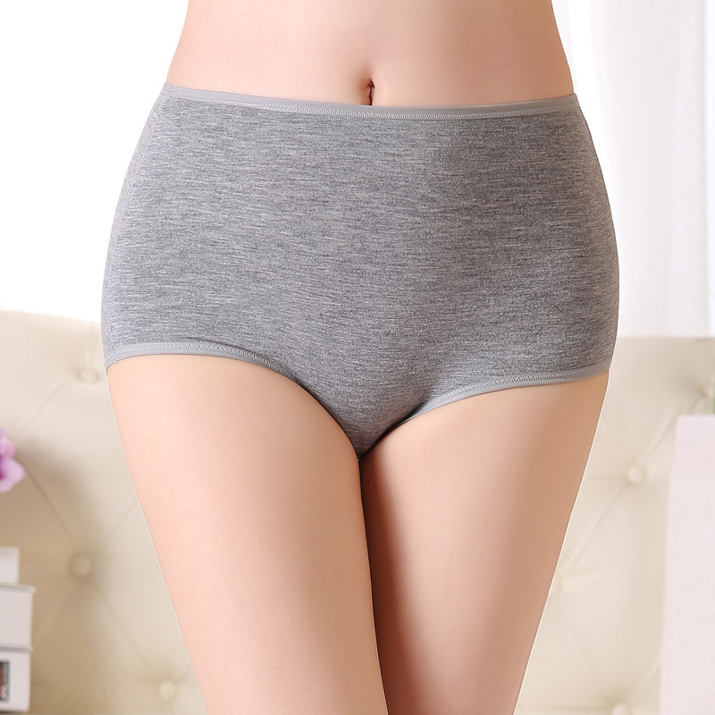 sales promotion new 2015 women underwears  High waist belly girl's bamboo panties 5pc/lot women's Intimates solid breifs XL