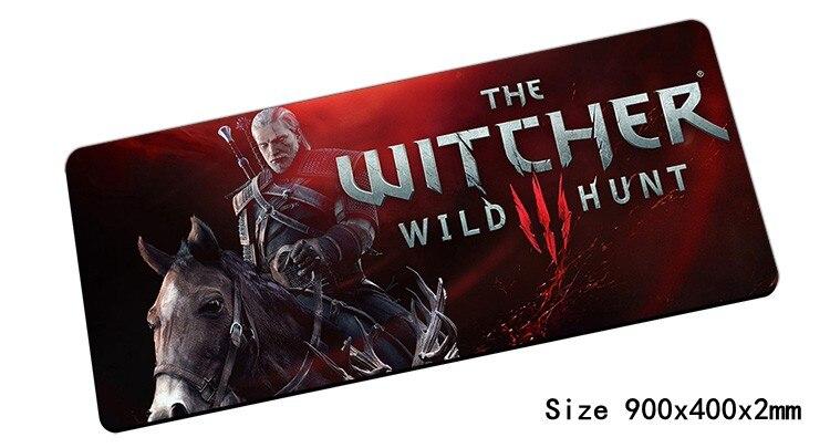 Witcher souris pad 900x400mm pad pour la souris notbook ordinateur tapis de souris meilleur vendeur gaming padmouse gamer clavier d'ordinateur portable souris tapis