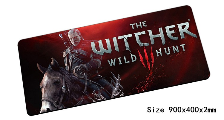 witcher mouse pad 900x400mm pad to mouse notbook computer mousepad font b best b font seller
