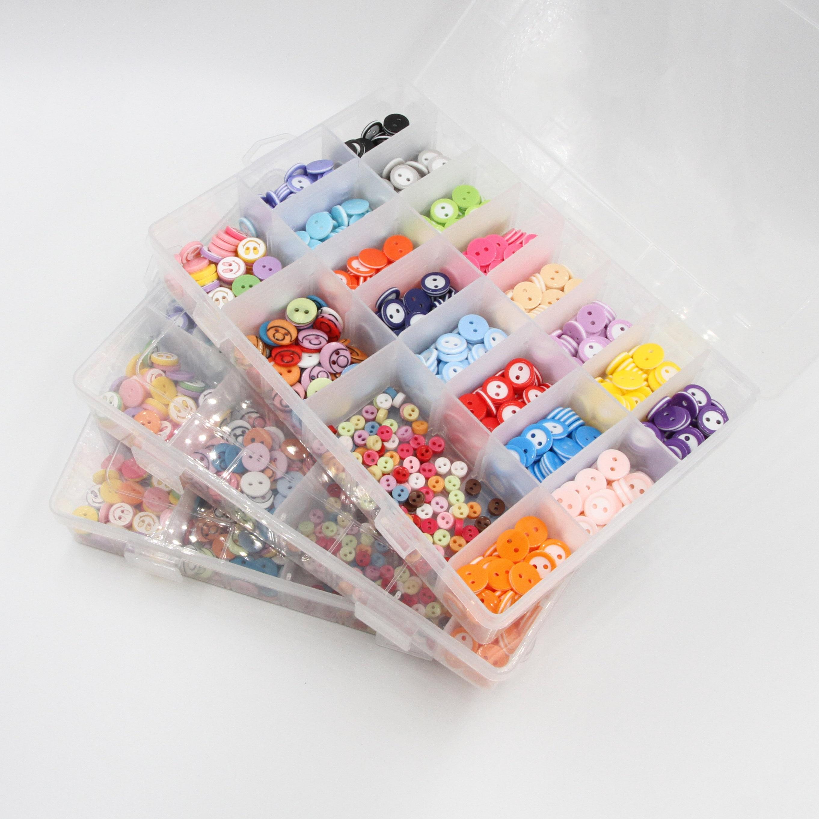 6set 150pcs To 1050pcs Kids Sewing Button Package Plastic Clothes Garment Accessories Kids Diy Scrapbooking