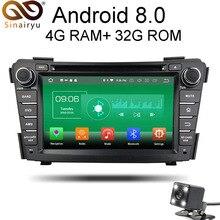 Sinairyu 4G Оперативная память Android 8,0 автомобильный DVD для hyundai I40 2011 2012 2013 2014 Octa Core 32G Встроенная память радио GPS; Мультимедийный проигрыватель головное устройство