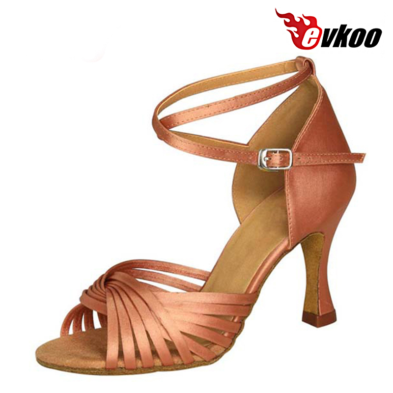 Evkoodance Six Color Latin Dance Shoes For Ladies Made By High Quality Satin Material 7cm Heel Height Evkoo-035Evkoodance Six Color Latin Dance Shoes For Ladies Made By High Quality Satin Material 7cm Heel Height Evkoo-035