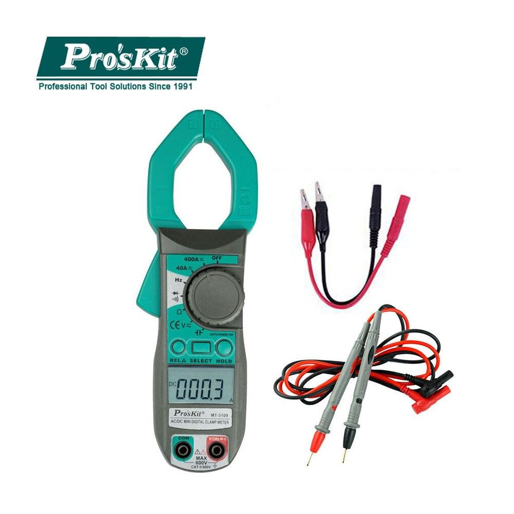 ProsKit MT-3109 AC DC courant pince numérique compteur multimètre fréquence de courant capacité testeur électricien outils à main